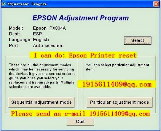 RESET EPSON Resets xp 102 2 Adjustment Program