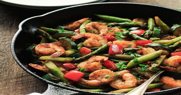 Shrimp Vegetable Skillet  Recipe