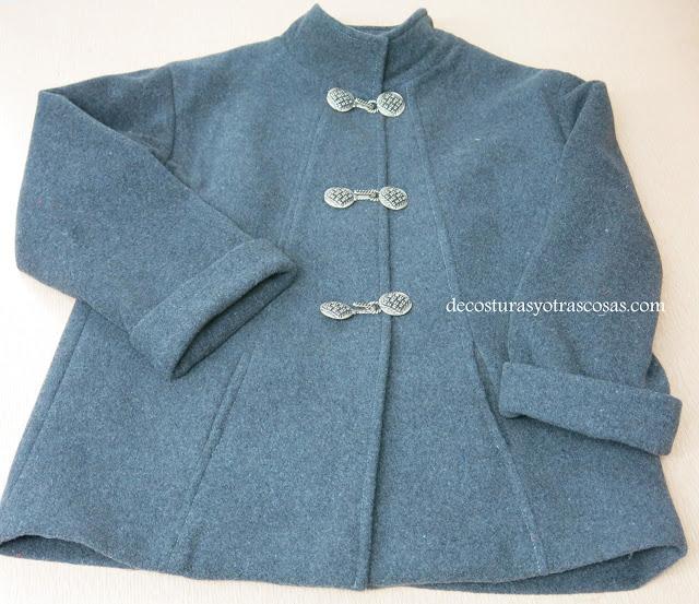 abrigo corto de lana