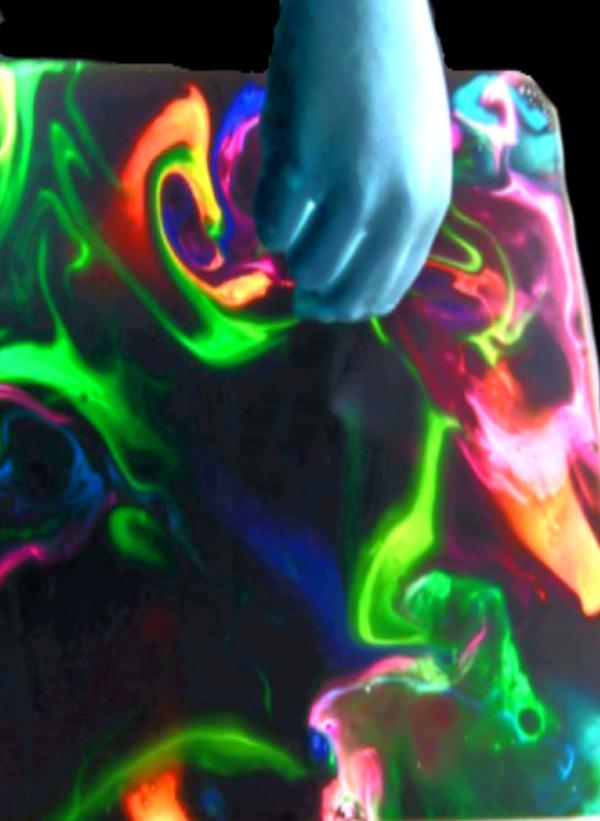 Explore liquid densities with this amazing goop slime!  You only need 2 ingredients & no glue! #Growingajeweledrose #slime #slimerecipe #slimerecipeeasy #goop #gooprecipe #goopslimerecipe #cornstarchslime #cornstarchandwater #glowinthedark