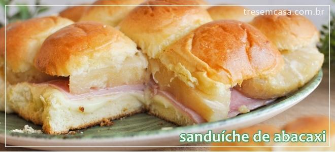 sanduíche de presunto com abacaxi