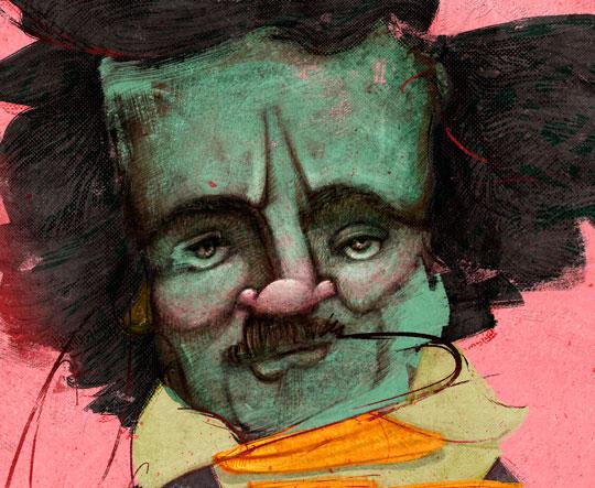 Póster. Edgar Allan Poe por Hache Holguín