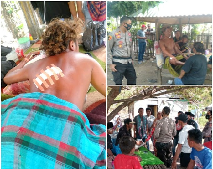 Dua Kelompok Tani Bawang Asal Bima Adu Parang di Nanga Tumpu, Dompu, Untung Ada Polisi