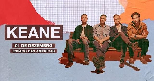 Keane vem ao Brasil em dezembro para performance única.
