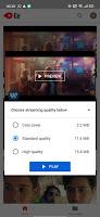 الجودات داخل برنامج YouTube go