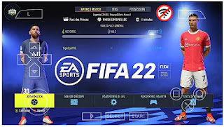 Download FIFA 22 PPSSPP English Version Camera PS5 Best Graphics  & Update Last Transfer And Kits