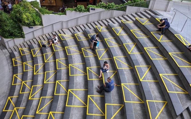 Surgen nuevas señales urbanas para mantener el distanciamiento