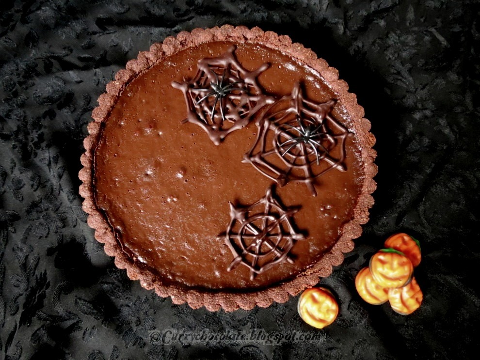 Tarta Halloween de chocolate y avellanas