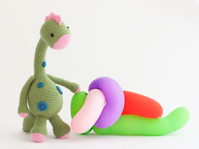 amigurumi-dinosaurio