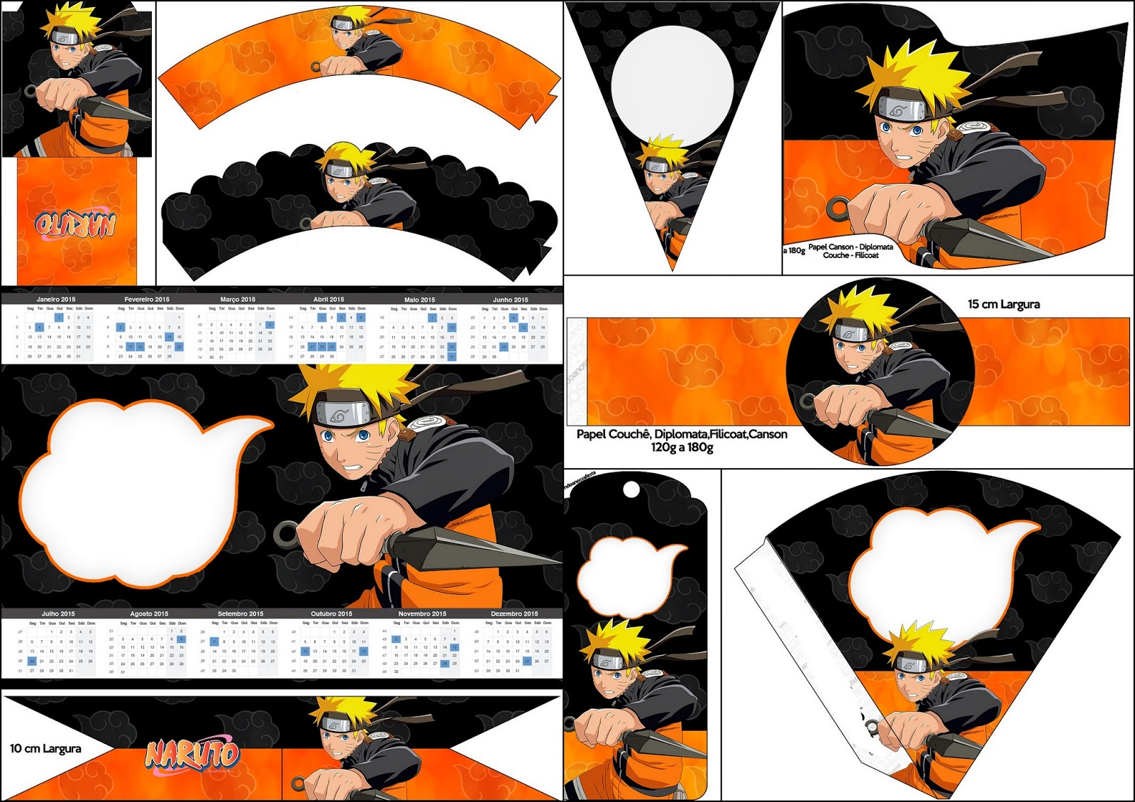 Naruto: Free Party Printables.