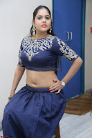 Ruchi Pandey in Blue Embrodiery Choli ghagra at Idem Deyyam music launch ~ Celebrities Exclusive Galleries 065.JPG