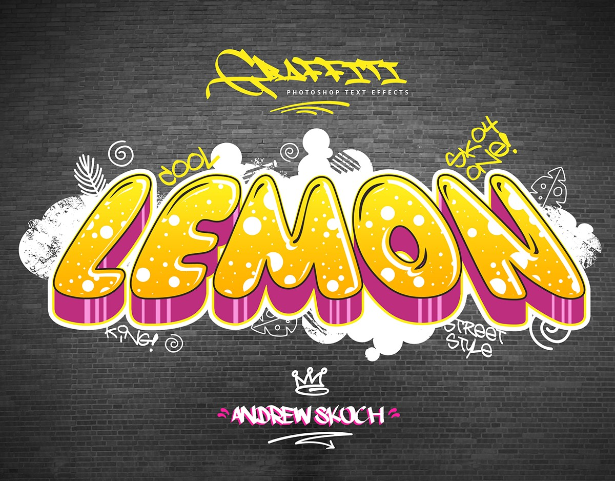 Graffiti Text Effects 10 Psd Vol 2 Download Action Free The Font Space The Right Space To Download Free Fonts
