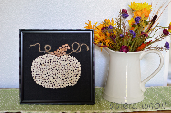 learn how to turn beans into pumpkin art
