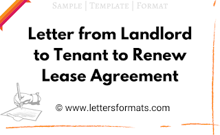 letter of intent to renew lease agreement