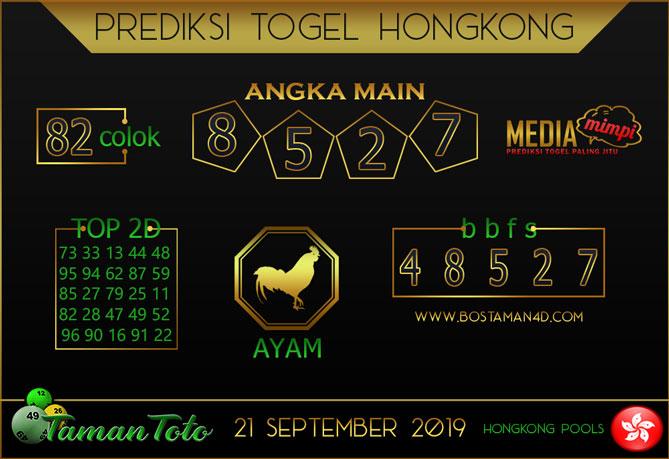 Prediksi Togel HONGKONG TAMAN TOTO 21 SEPTEMBER 2019