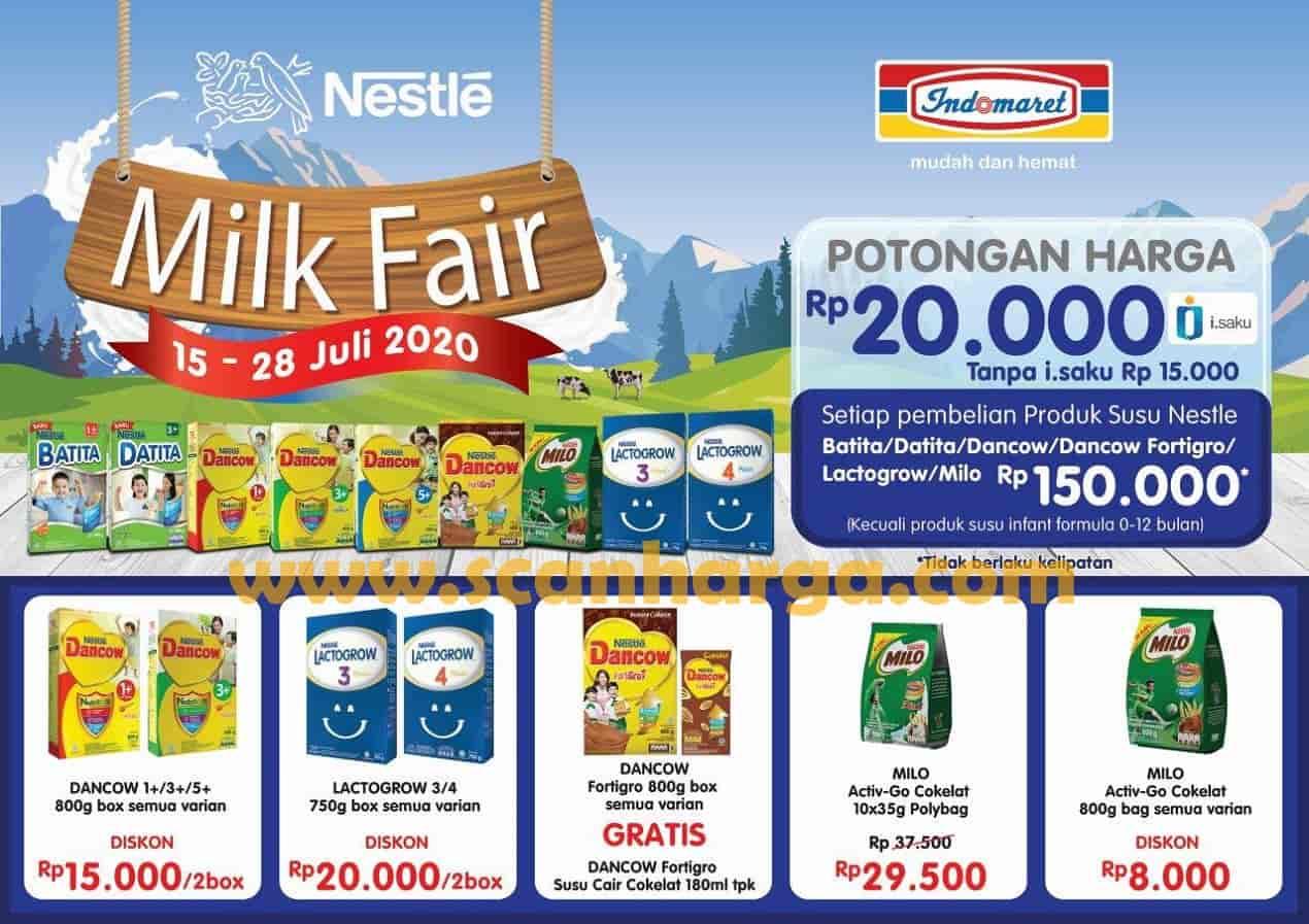 Promo Indomaret Milk Fair Periode 15 - 28 Juli 2020
