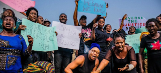 Black Monday in Owerri as women clad in black wail and protest Supreme Court judgement