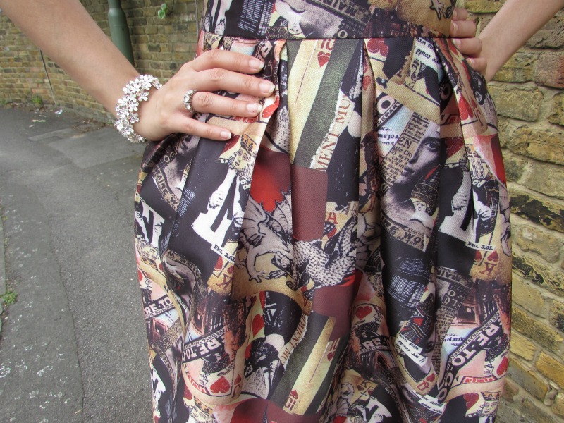 Card printed full midi skirt from Everything5pounds.com