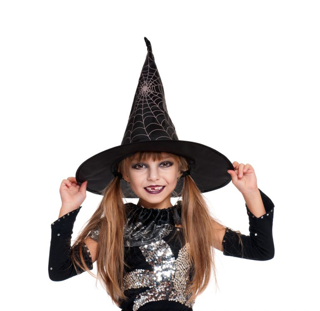Learn how to sew a witch hat for Halloween. Pattern & tutorial by So Sew Easy
