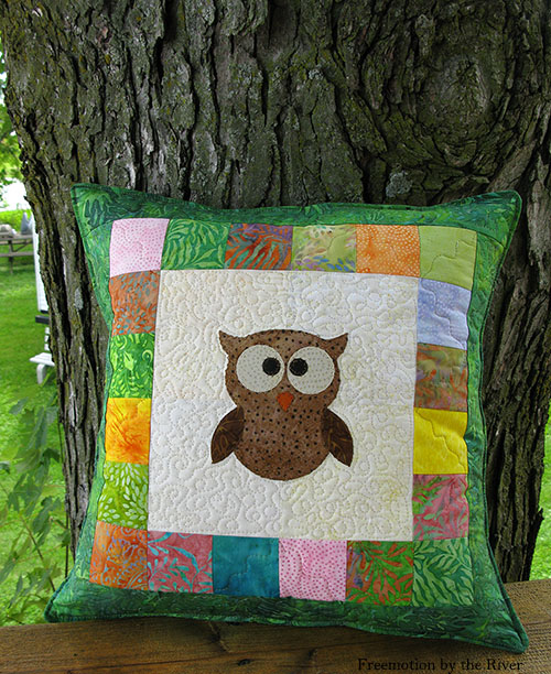 Fast and easy Tree Owl Pillow tutorial