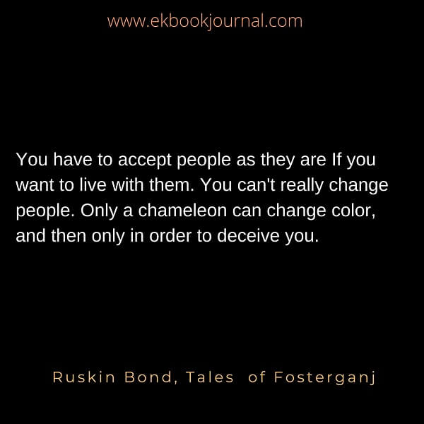 Rusking bond quotes | human nature quotes |  tales of fosterganj