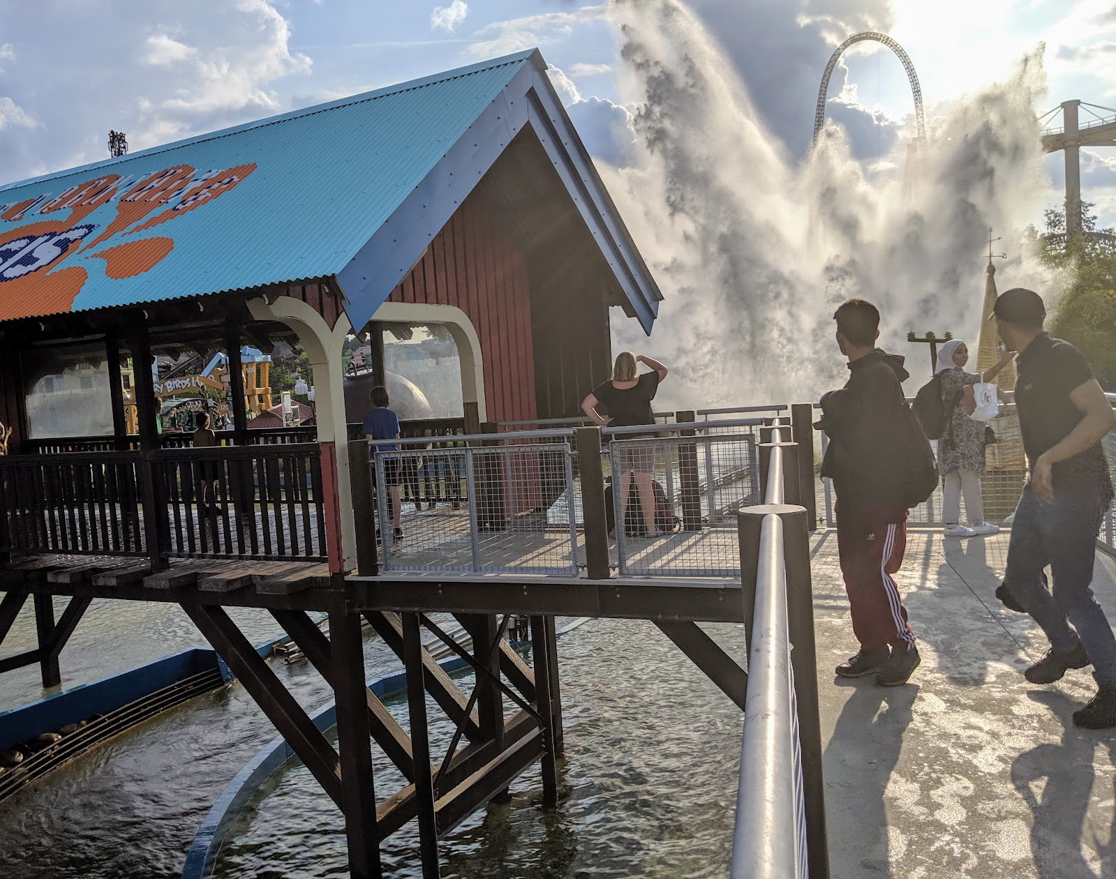 Exploring the Southern Merlin Theme Parks with Tweens  - Water splash on Tidal Wave at Thorpe Park