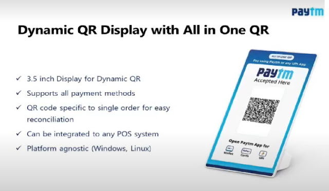 Paytm Dynamic All-in-One QR Code Display