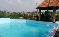 sewa villa murah di puncak ada kolam renang 2 kamar
