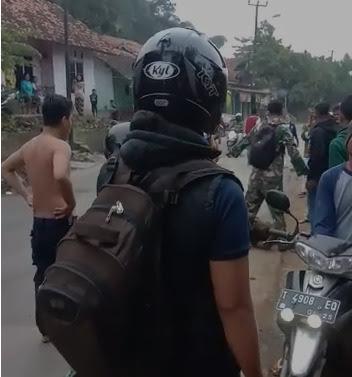 Prajurit Kostrad Amankan Pencuri yang Nyaris Tewas Dihakimi Massa