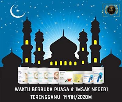 Waktu Berbuka Puasa & Imsak Negeri Terengganu Tahun 2020