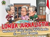 "Lomba Jurnalistik 2016 ""Separuh Perjalanan Ganjar – Heru Memimpin Jawa Tengah"""