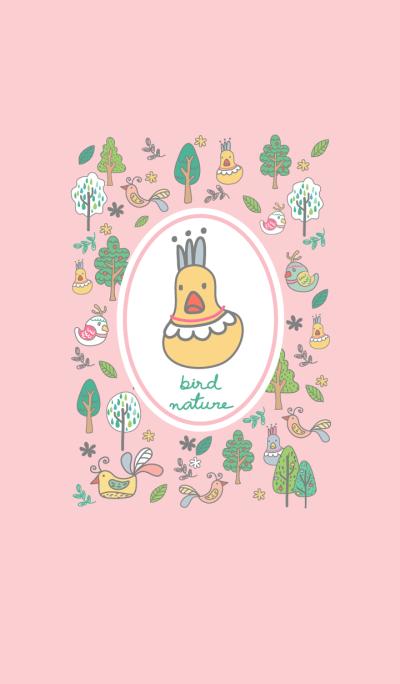 Bird & Nature(pink)