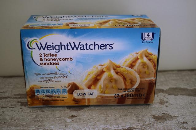 Frozen desserts Weight Watchers toffee and honeycomb sundae