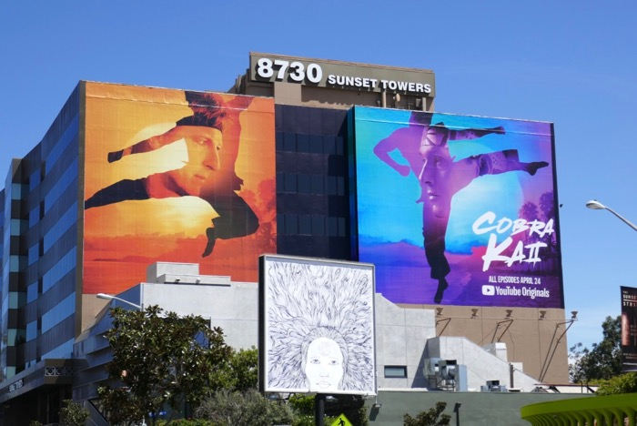 Giant Cobra Kai season 2 YouTube billboard