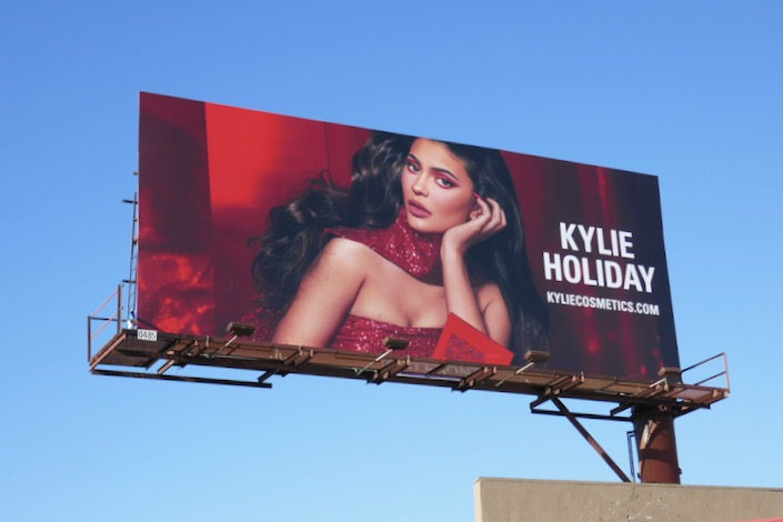 Kylie Cosmetics Holiday 2019 billboard