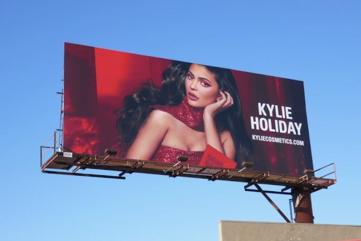 Kylie Cosmetics Holiday 2019 billboard
