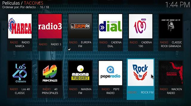 emisoras de radio tacones kodi
