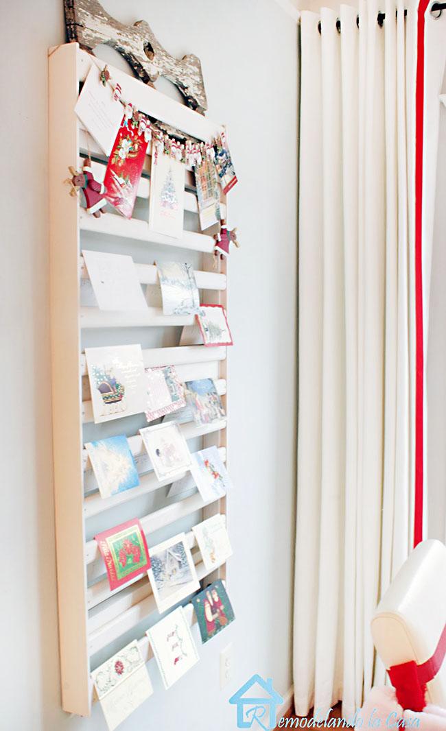 Christmas cards on Crib holder