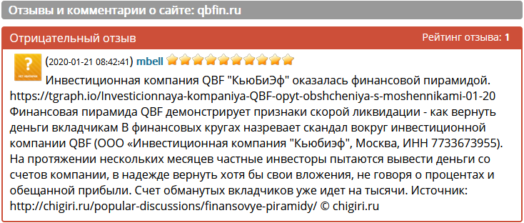 qbfin.ru – Отзывы