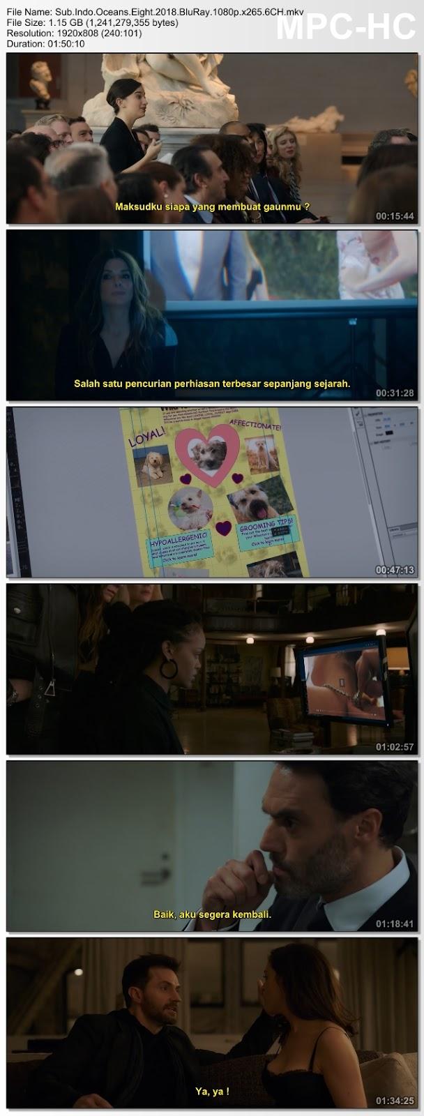 Screenshots Download Oito Mulheres e um Segredo (2018) BluRay 480p & 3GP Subtitle Indonesia