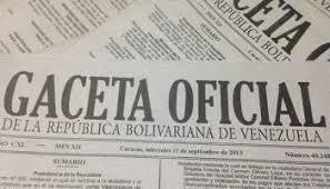 Léase SUMARIO Gaceta Oficial Nº 41701 del 23 de agosto de 2019