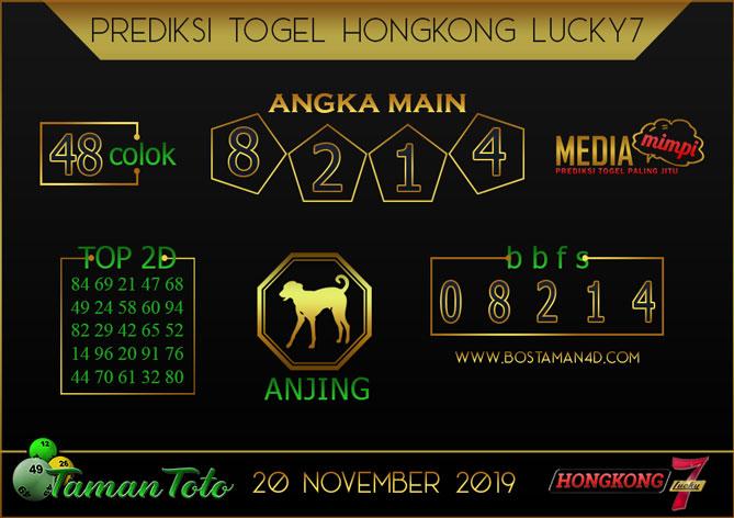 Prediksi Togel HONGKONG LUCKY 7 TAMAN TOTO 20 NOVEMBER 2019