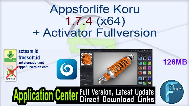 Appsforlife Koru 1.7.4 (x64) + Activator Fullversion