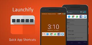 إظهار اختصارات التطبيقات على شاشة القفل وشريط الإشعارات   Launchify