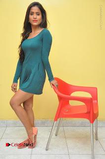Telugu Actress Prasanthi Stills in Green Short Dress at Swachh Hyderabad Cricket Press Meet  0100.JPG