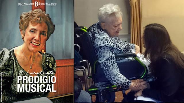 Portada de Barakaldo Digital dedicada a Ozaíta y foto de su última aparición en público