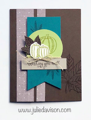 Stampin' Up! Come to Gather Card for Thanksgiving Fall Autumn ~ 2019 Holiday Catalog ~ www.juliedavison.com #stampinup