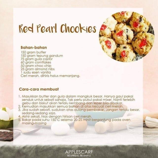 13 Resepi Biskut Raya Yang Sedap Dan Mudah, Red Pearl Cookies, Resepi Red Pearl Cookies
