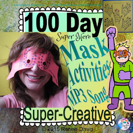 100th Day of School Super Hero Mask and Creative Activities!