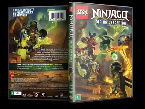 Capa DVD LEGO Ninjago Mestres do Spinjitzu: Dia da Despedida [Custom]